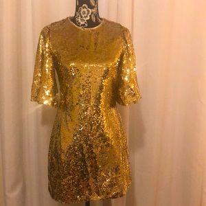 MINKPINK Gold Sequin Dress 👗